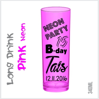 Copo Long Drink Pink Neon